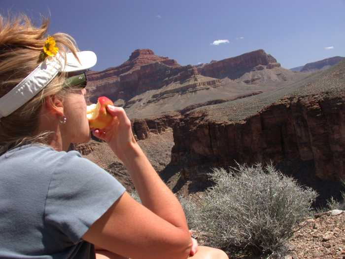 Stacey Pilcher in the Grand Canyon